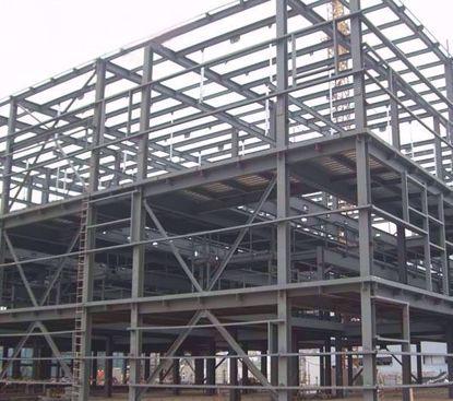 图片 钢结构物流临时存储棚